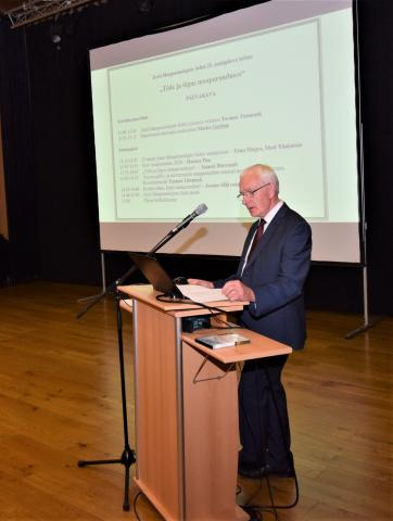 EMS-i juhatuse esimehe Toomas Timmuski tervitussõnavõtt.